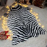 Animal Print leopard Zebra Skin Rug Leather Carpet Mat Indoor/Outdoor 1 piece