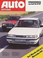 Mazda 626 Mercedes 190 Sonderdruck Auto Zeitung 19/87 1987 Testbericht Test Auto