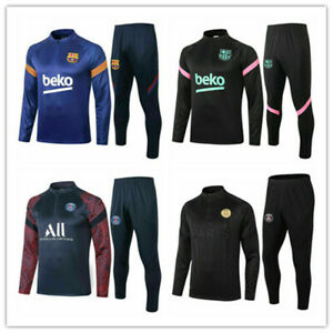 Adult Mens Football Survetement Training Suit Tops & Bottoms Sports Outfits