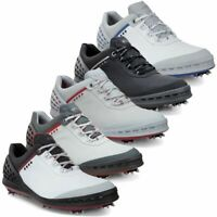 SALE!! ECCO Mens Cage Spikes Waterproof Hydromax Leather Golf Shoes