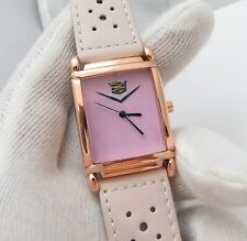 PINK CADILLAC, Pink Rally Leather,Rose Gold Plated Case/Buckle,UNISEX WATCH 643