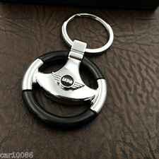 2017 Car logo Metal Steering Wheel Key Chain Key Ring Keychain for MINI COOPER
