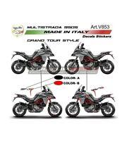 """Adesivi Grand Tour Design per fiancate Ducati Multistrada 950 S dal 2019 """"V853"""""""