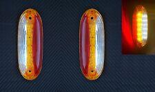 2x LED SIDE OUTLINE MARKER RED/WHITE/AMBER LIGHTS VERTICAL FIT TRUCK TRAILER BUS