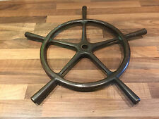 Vintage Bronze Ships Wheel Maritime Marine Nautical Boat
