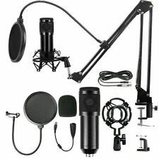 Profi Podcast Set Studiomikrofon Set Großmembran Kondensatormikrofon
