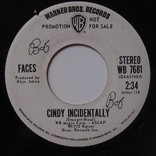FACES: Cindy Incidentally ROD STEWART dj promo 45 WB rare VG++