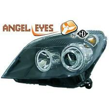 Par faros delanteros TUNING OPEL ASTRA 04-09 negro anillos OJOS DE ANGEL