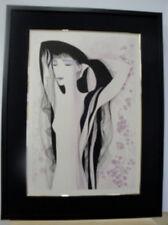 "Eyvind Earle ""Girl WithThe Raven Hair""  S/N Serigraph Framed"
