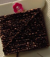 Copper Black 4ply Heavy Metallic Silky Embellishing Thread x 3m Wonderfil Sizzle
