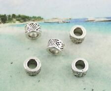 50pcs Tibetan silver barrel spacer Beads FC8485
