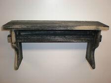 "Black Weathered Looked Towel//Quilt Shelf 51/"" Long Primitive Rustic"