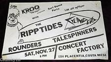 RARE 1982 RIPTIDES FLYER ROUNDERS TALESPINNERS CYLINDERS @CONCERT FCTRY SURFPUNK