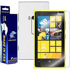 ArmorSuit MilitaryShield Nokia Lumia 920 Screen + White Carbon Fiber Skin! New!
