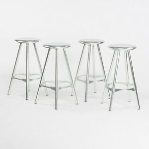 Set of Four Amat 3 for Knoll Studio Counter Stools Made and Designed in Spain