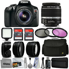 Canon EOS Rebel T6 DSLR Camera with EF-S 18-55mm + 20 PC Accessory Bundle Kit