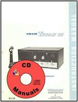 TRAM Titan III SSB CD OWNERS MANUAL + Schematic CB Radio Titan 3 CD ONLY