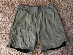 Hyperfly Icon Combat Shorts  Light Green Gold Size 40