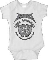New Metallica 4 Little Horseman Baby Romper One Piece 6-24 Months badhabitmerch