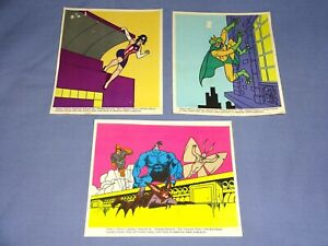 """The Tick 5""""x6"""" Window Static Clings Taco Bell 1995 Fox Kids Stickers Animated TV"""