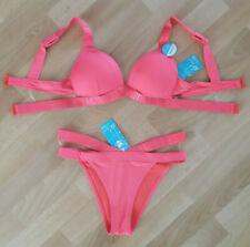 Marko Amanda M-386 Bikini Set Dame Bademode musterlos abnehmbar gerafft EU