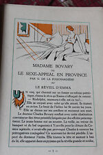 1933 Les incarnations de Madame Bovary Panetier  N° illustré bibliophilie