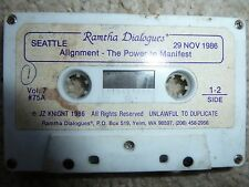 """RAMTHA DIALOGUES JZ KNIGHT 1986  """"ALIGNMENT- THE POWER TO MANIFEST"""" RARE"""