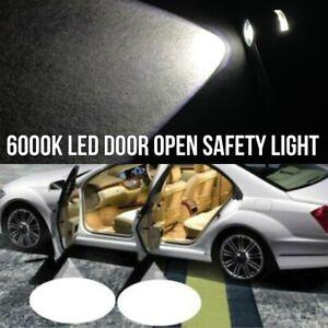 2x LED Car Door Step Courtesy Welcome Light Shadow Puddle Emblem K1 For Fiat