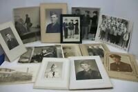 13 Vintage Military Real Photographs - Estate Lot