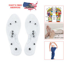 Acupressure Massage Shoe Insoles  Magnetic  Odor free Foot Massaging  Inserts