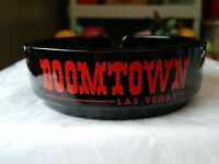 Boomtown Las Vegas Casino Ashtray Stake Your Claim Black Red Lettering