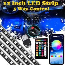 "4x12"" RGB LED Strip Car Interior Floor Atmosphere Light bluetooth Music Control"