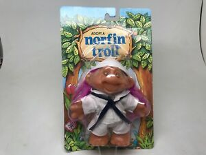 NORFIN TROLL--(ADOPT A)-SAILOR-WHITE-PURPLE HAIR--1986-SEALED ON CARD