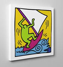 ⛵️ Bild Haring Pop Shop Wind Surf Poster Druck auf Leinwand Farbe Roller