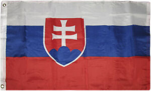2x3 Slovakia Flag 2'x3' House Banner Grommets Fade Resistant