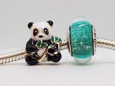 Set of 2 New Authentic Pandora Charms Sweet Panda Mixed Enamel 796256ENMX,ARIEL