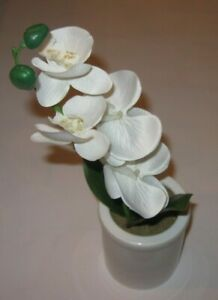 Threshold Flower Tabletop Ceramic Potted Orchid Table Accent Home Decor NEW