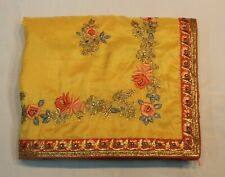 Indian Traditional Persian Work Raw Silk Saree Bollywood Sari Bridal Party Dress