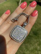 DAVID YURMAN ALBION 20MM STERLING SILVER PAVE DIAMOND ENHANCER