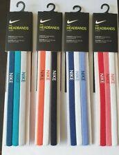 Nike Elastic Hairbands Unisex Headband 3 Pack One Size Gym Sports
