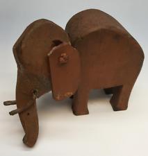 Rare Vintage Wood Elephant Toy