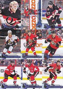 Ottawa Senators 2016-17 Upper Deck Complete Team Set 13 Different Cards