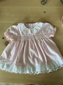 vintage lace collar baby girls dress age 3-6