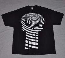 THE PUNISHER Short Sleeve T-Shirt Men's 2XL XXL Black SS Marvel Comic Tee Skull