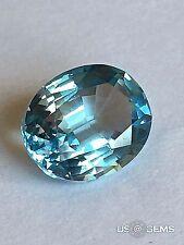 Aquamarine Aqua #150  Oval 10x8mm. 2,75 Ct. Monosital created gemstone.  US@GEMS