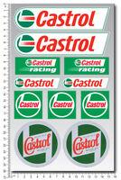 Castrol Racing oils motorcycle car sponsor decals set sheet 11 stickers honda
