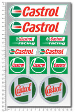 Castrol Racing oils motorcycle car sponsor decals set sheet 11 stickers honda