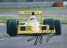 Nelson Piquet 1989 Lotus 101 - Judd Hand Signed F1 Racing Photograph