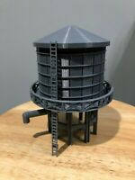HO Scale Water tank 3D printed kitHigh Detail (Gray) 6in tall tower