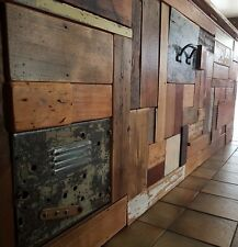 Vintage Industrial Bar Cafe Shop Counter Custom made recycled timber cladding